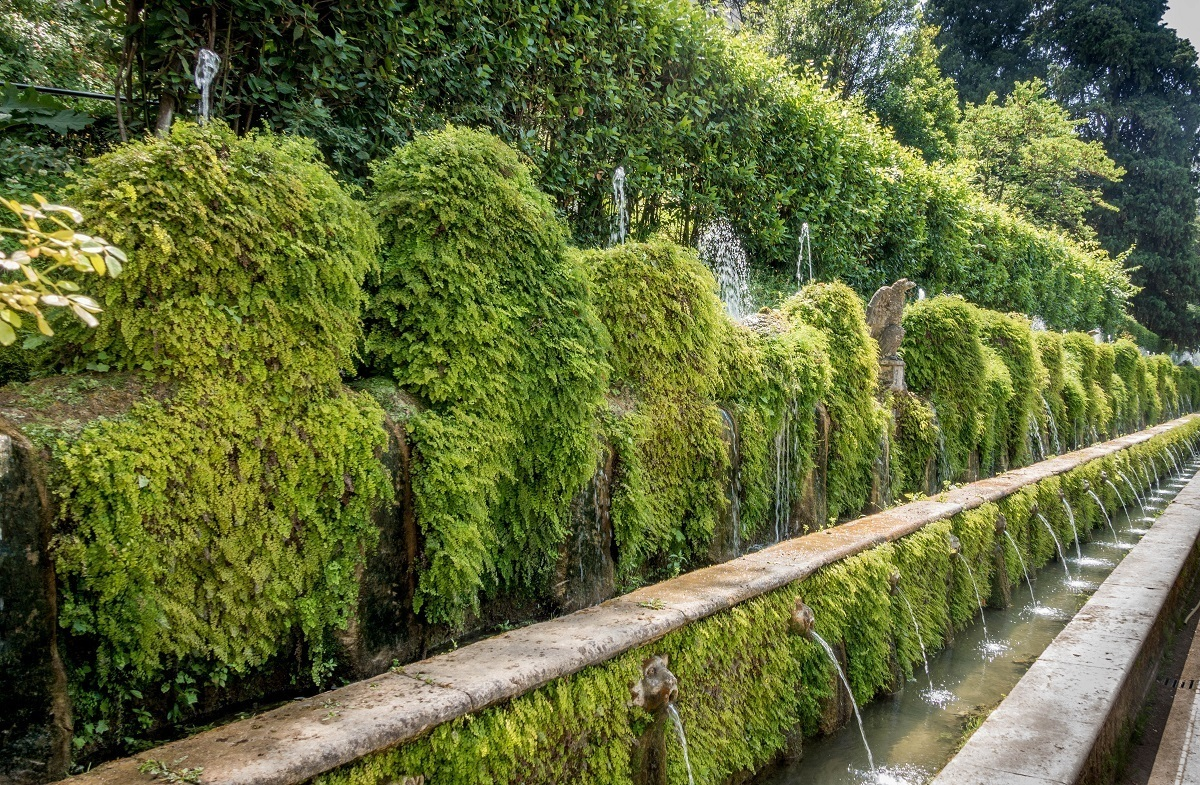 The all of the Hundred Fountains at Villa d'Este in Italy