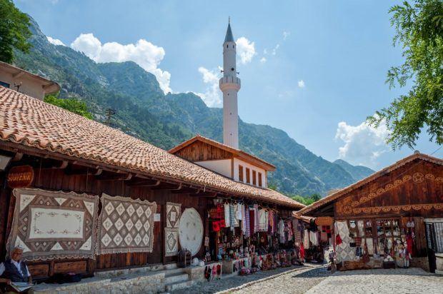 Ottoman bazaar in Kruja, Albania