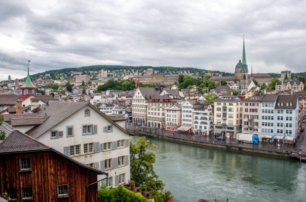 The old city of Zurich, Switzerland.