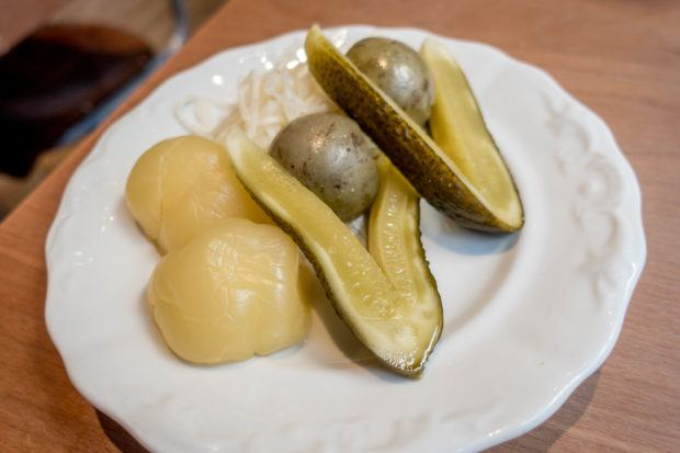 Pickled peppers, melons, and cucumbers