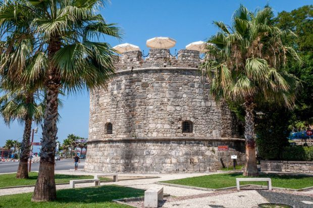 The Venetian Tower in Durres, Albania, dates from the 5th century