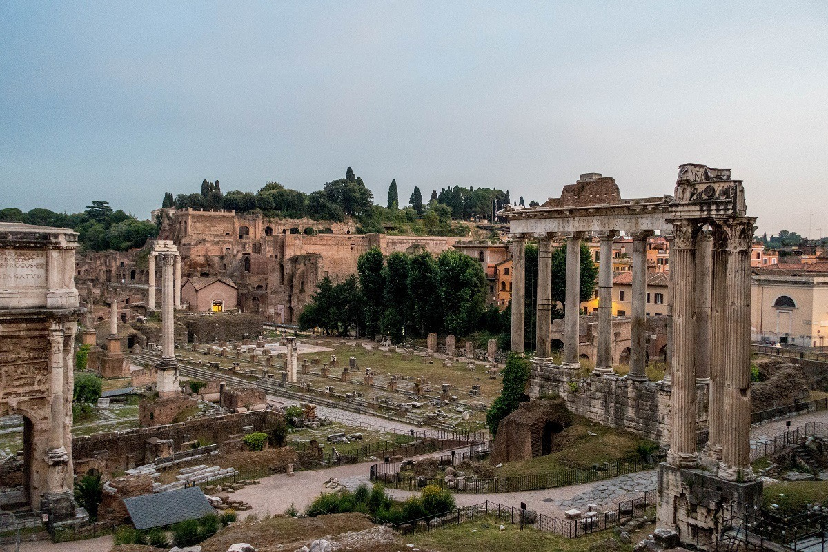 Columns and ruins of the Roman Forum