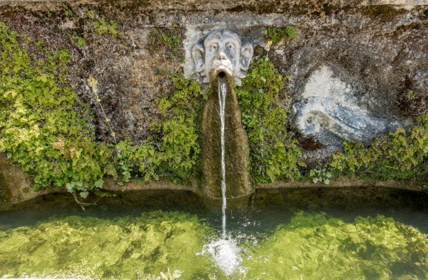 Fountain at Villa d'Este, Tivoli, Italy