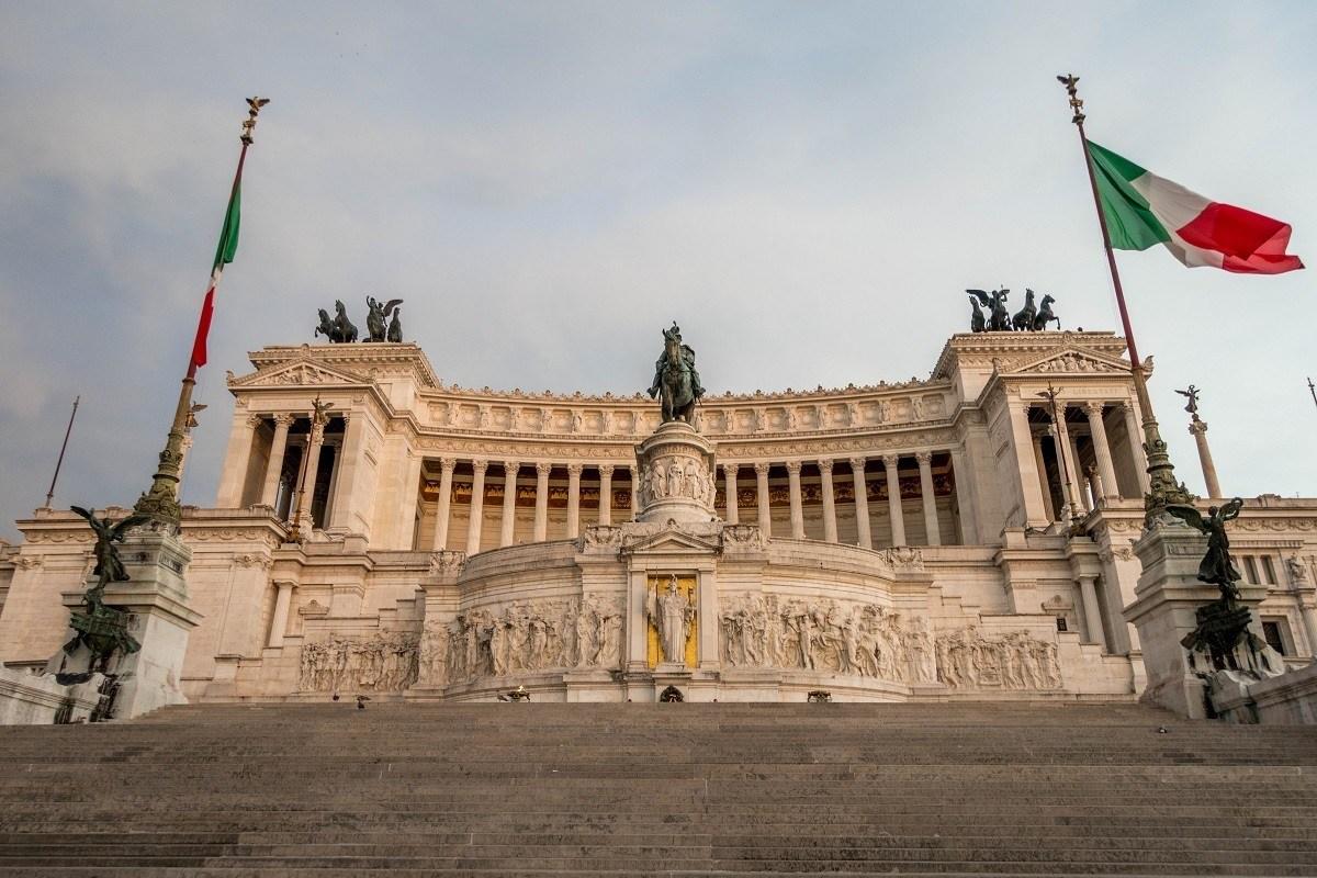 Vittorio Emanuele Monument in Rome Italy