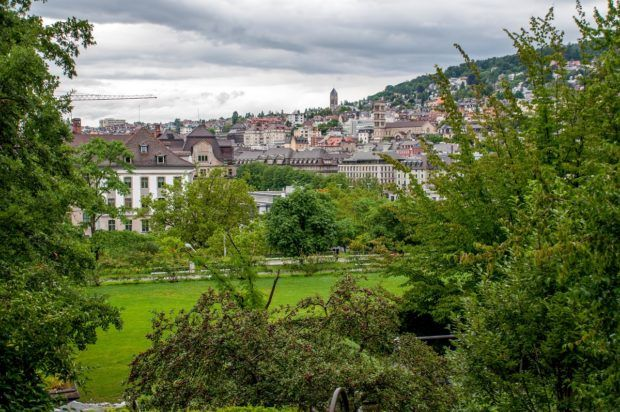 Zurich has lots of parks to enjoy on your layover if the weather is good.