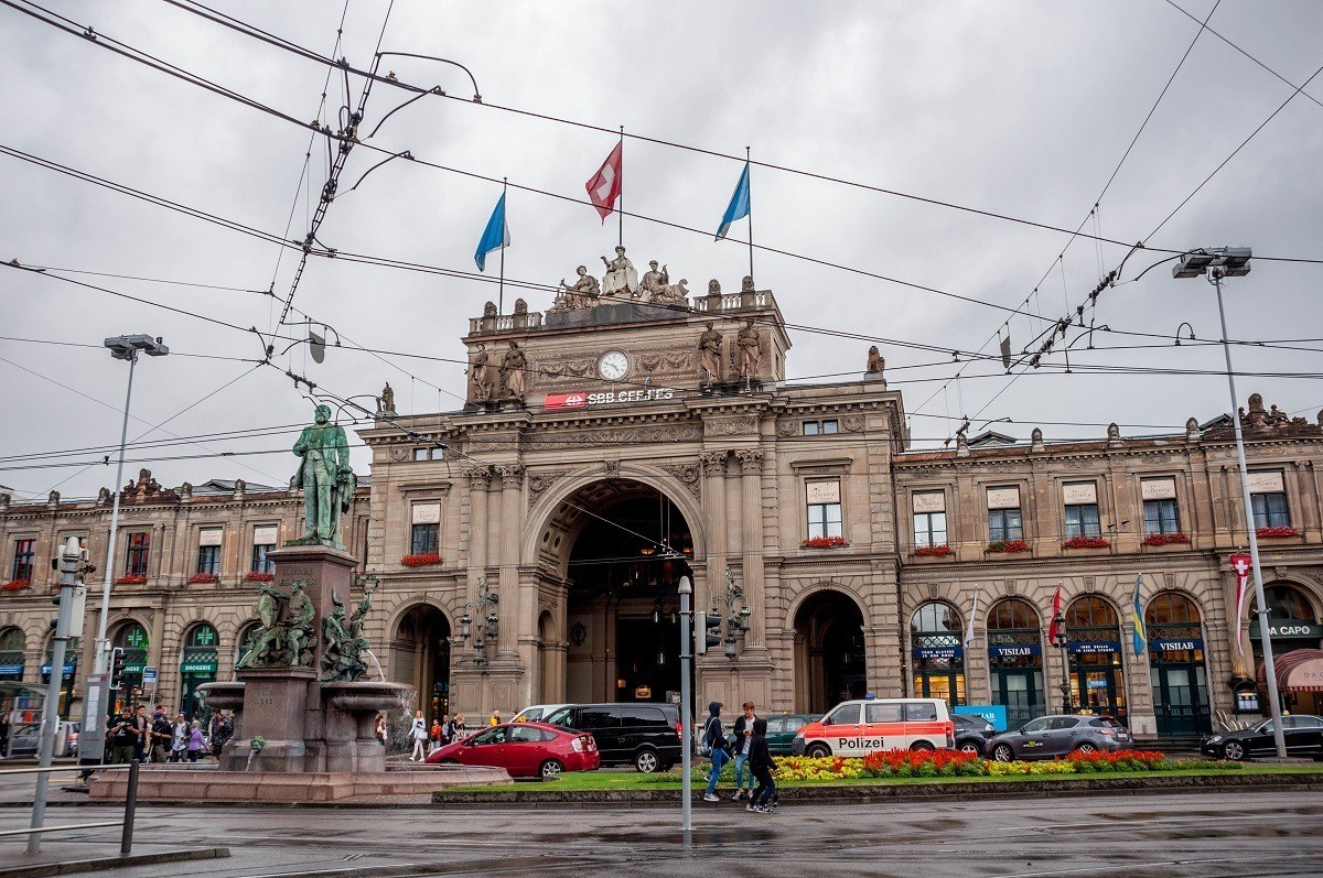 The Zurich Hauptbahnhof is one of the busiest train stations in the world and is the starting point for a Zurich walking tour.