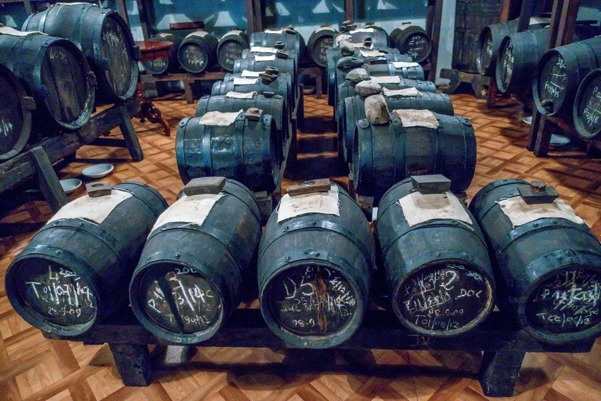 Balsamic vinegar ages like fine wine in Modena, Italy