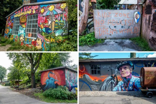 There is so much colorful art and personality around the community of Christiania