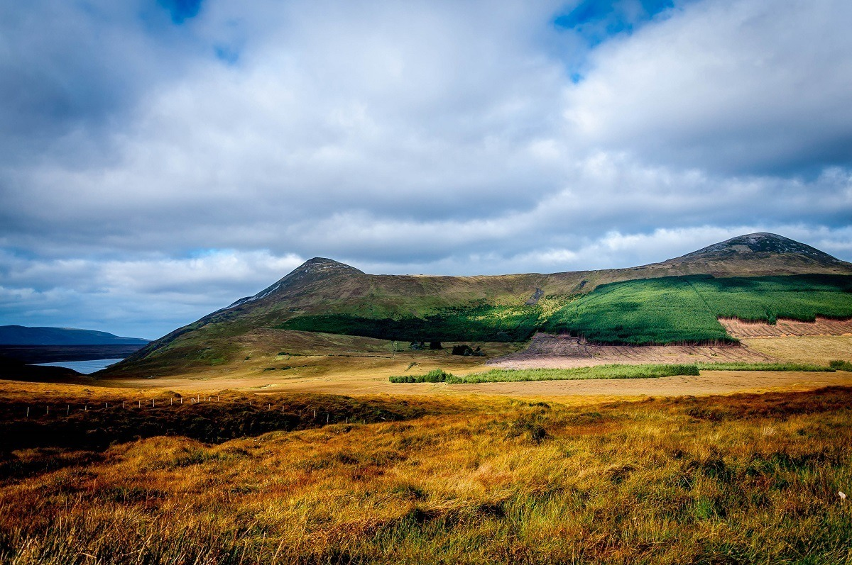 The hillsides of Donegal, Ireland, are worth a visit on your driving tour of Ireland in a week.