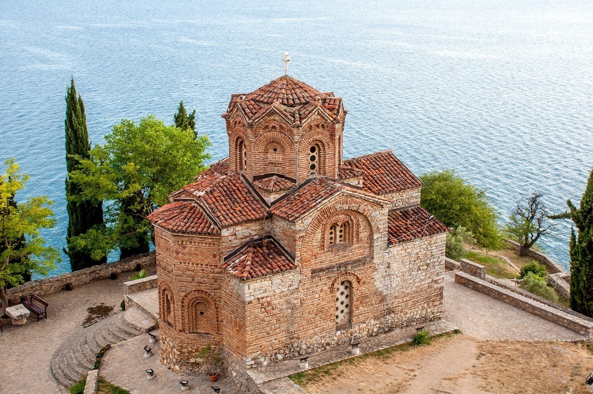 St. Jovan of Kaneo Monastery on the shore of Lake Ohrid, Macedonia.