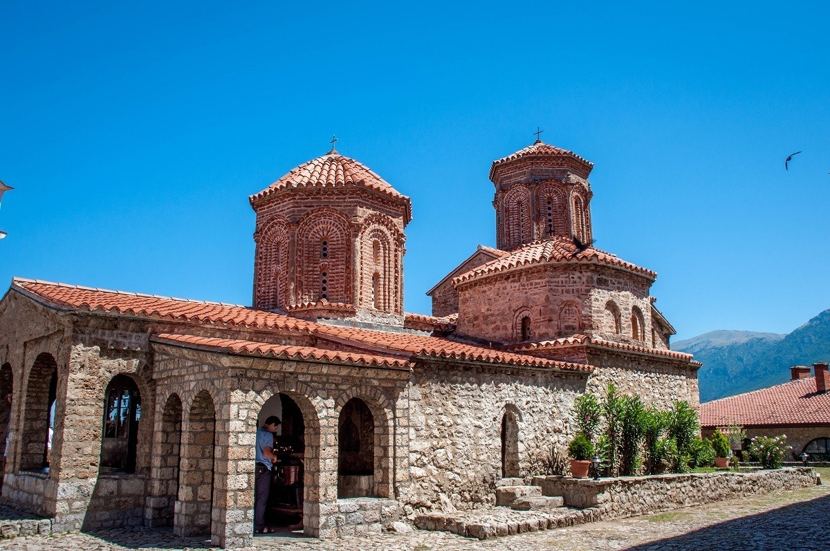 The Monastery of St Naum on the shores of Lake Ohrid.