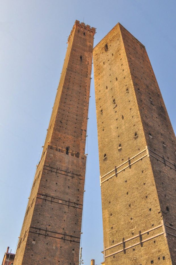 The Asinelli and Garisenda towers are some of the oldest Bologna attractions. Climbing one is fun even if you only have one day in Bologna.
