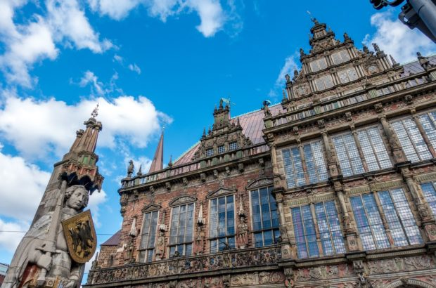 The Bremen Town Hall and Bremen Roland statue in Bremen, Germany, are collectively a UNESCO World Heritage Site