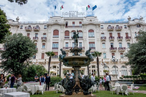 The Grand Hotel in Rimini is a great brunch option in Emilia Romagna, Italy