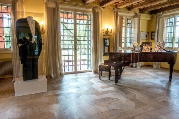 Pavarotti's house in Modena, Italy, is filled with memorabilia from his career
