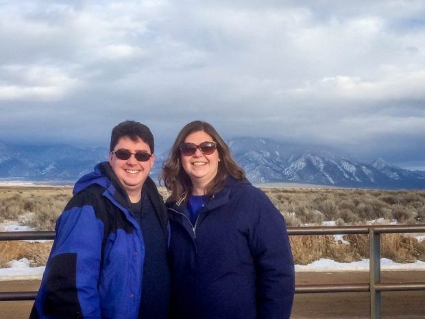 Visiting Taos in 2015 with my best travel item:  my blue jacket.