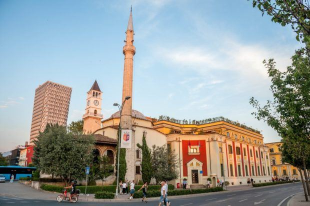 Mosque in downtown, one of the amazing things to do in Tirana, Albania