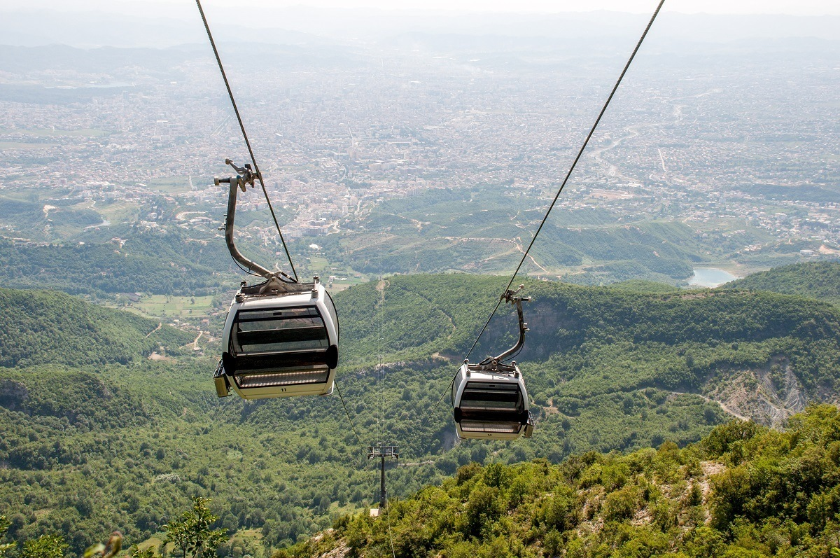 One of our favorite things to do in Tirana is the Dajti Express cable car to the top of Mount Dajti