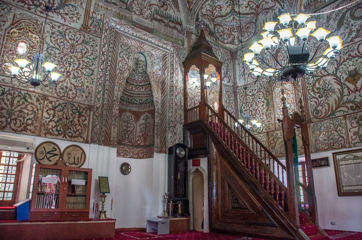 The Et'hem Bey Mosque in Tirana Albania