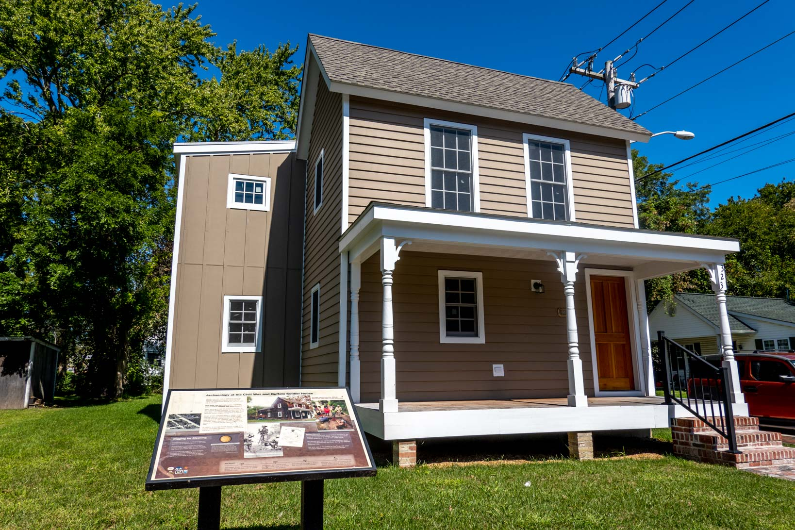 Wood shingled house, the Civil War and Buffalo Soldier house in The Hill