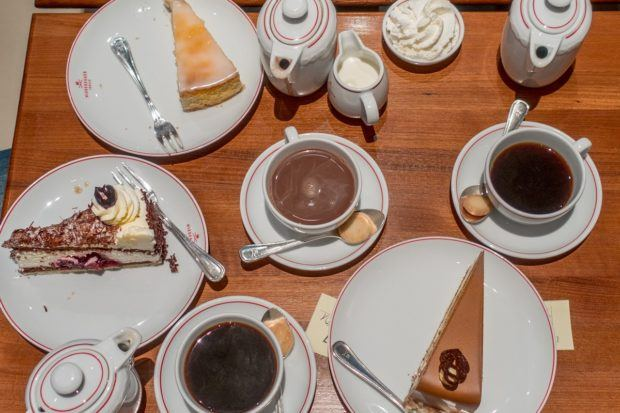 Select from dozens of cakes and marzipan at Lubeck's historic Cafe Niederegger