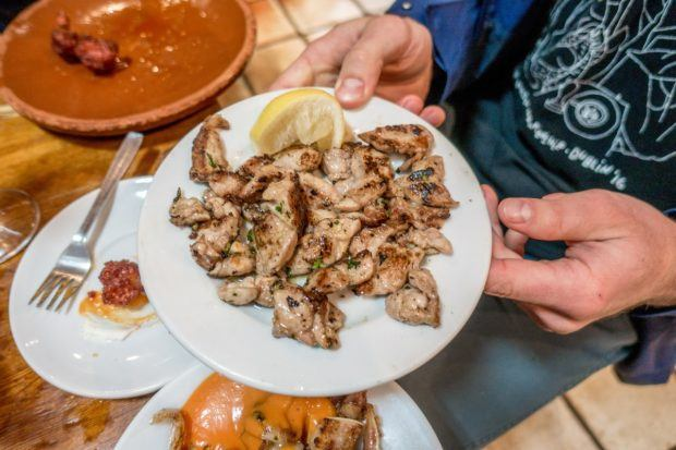 A Madrid food tour provides a great opportunity to be adventurous -- like trying these lamb sweetbreads