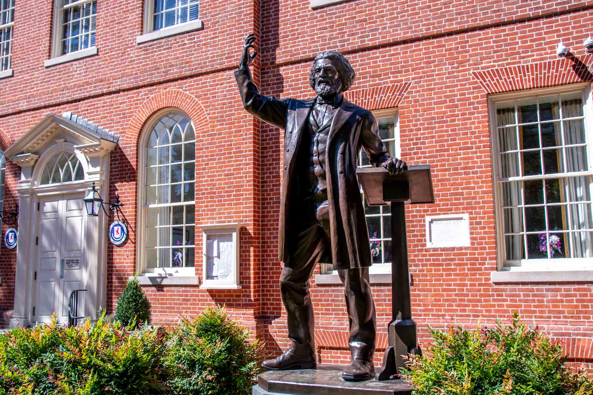 Frederick Douglass statue at the Easton, MD, courthouse