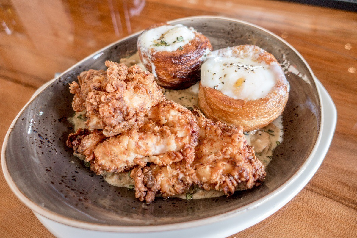 The Klinger Chicken Dinner with fried chicken and cronuts