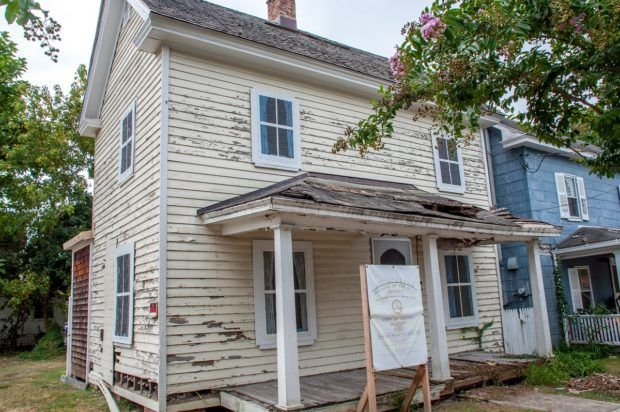 One of the homes in the historic African-American settlement of The Hill in Easton, MD, that is slated for repair