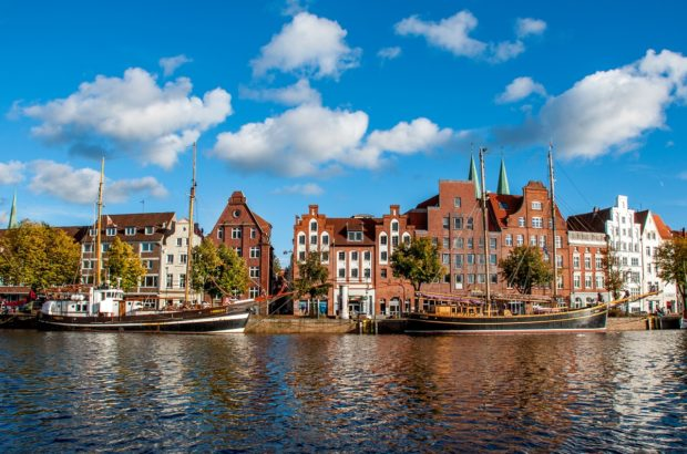 The Hanseatic city of Lubeck, Germany, is full of fun things to do an beautiful views -- like this one along the Trave River