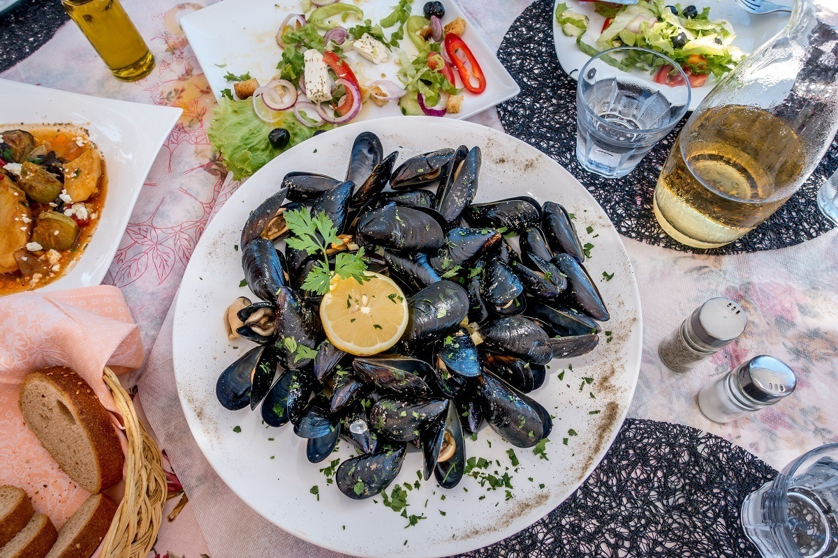 Mussels is just one of the great seafoods to try in Albania