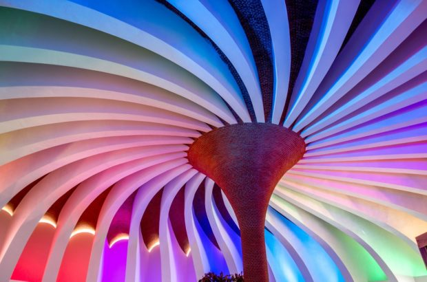 The multi-colored pinwheel greets you at Xenses Park in Riviera Maya