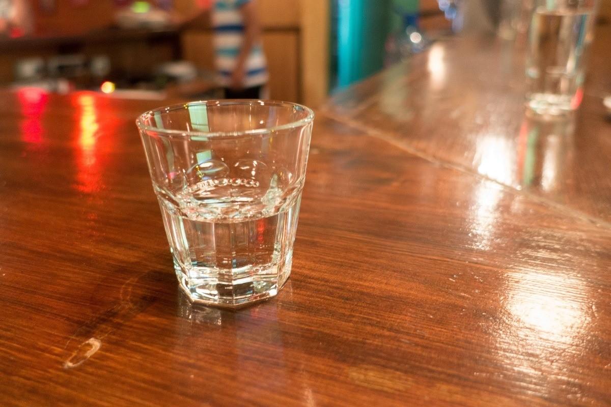 Small glass with raki, a clear fruit brandy