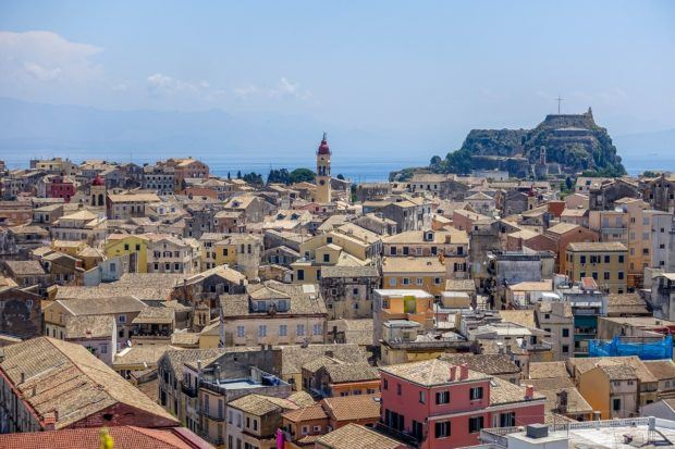 The rooftops of Corfu, Greece -- one of our favorite 2016 travel photos
