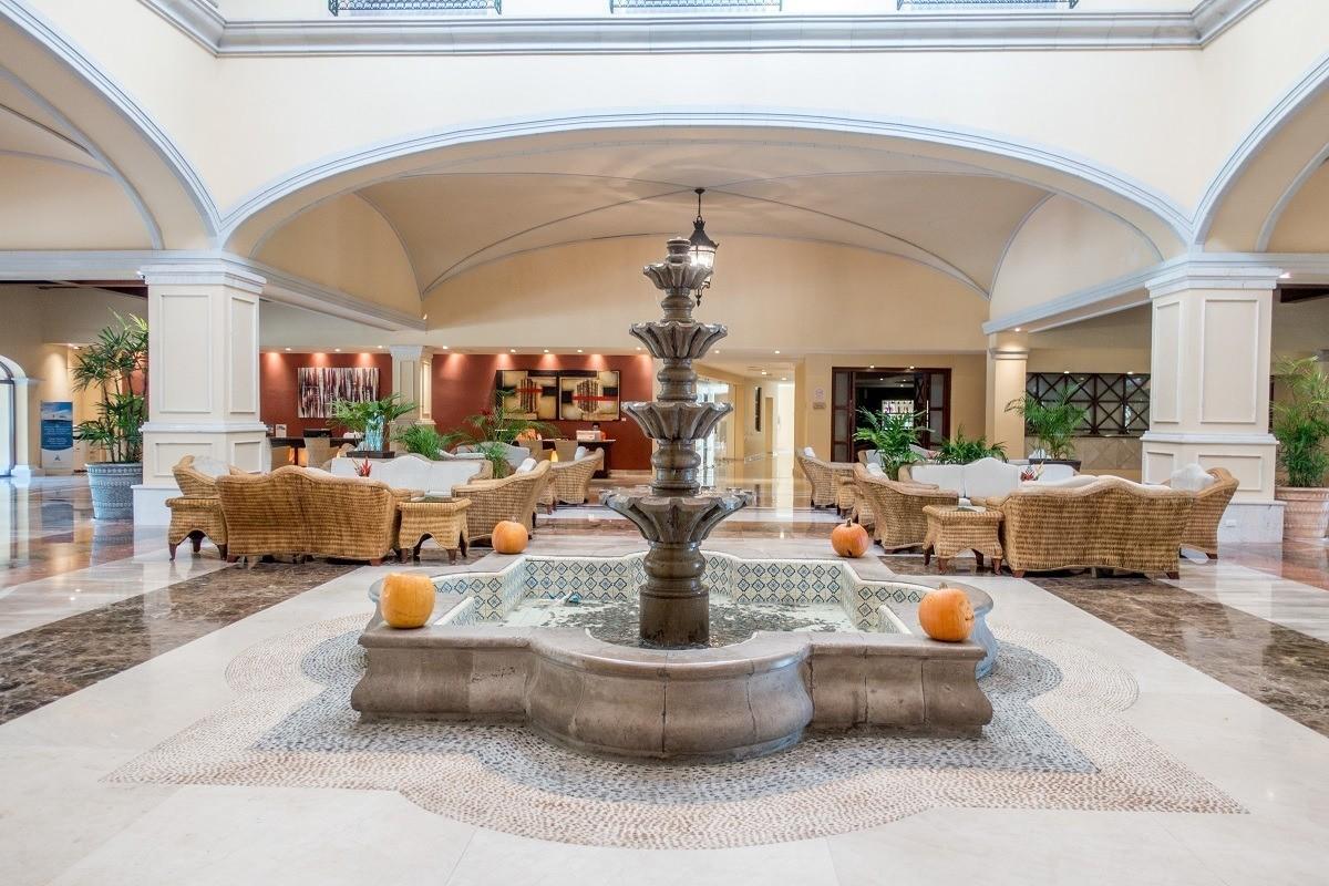 The lobby of the Hacienda Tres Rios Resort
