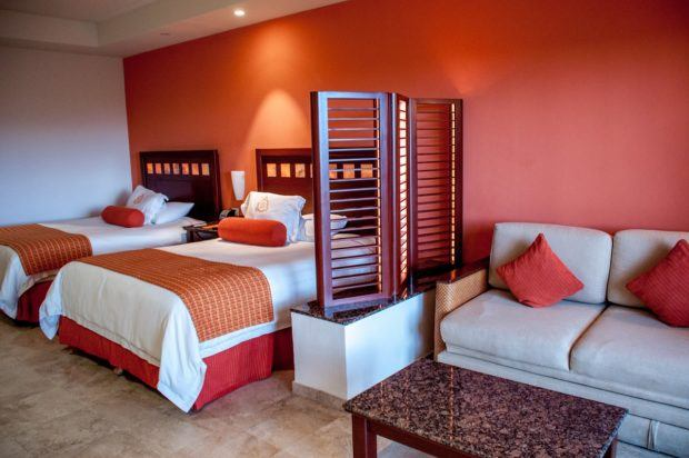 The rooms at Hacienda Tres Rios are all suites and are extremely comfortable.