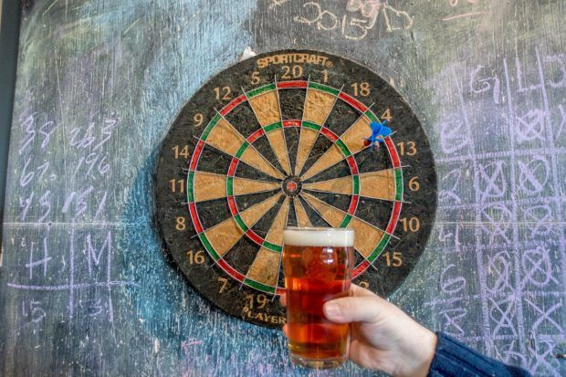 Santa Fe Brewing Company is a great place to try some beer, play darts, and hang out for the afternoon