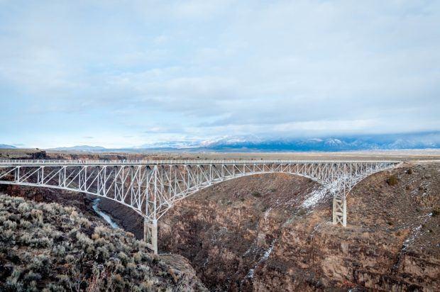 Crossing the Rio Grande Gorge Bridge in Taos, New Mexico
