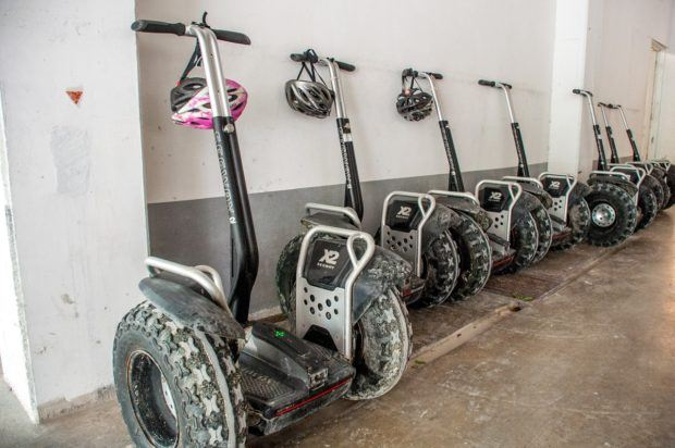 One of the activities offered at the hotel is a tour of the Tres Rios Nature Park on Segways.