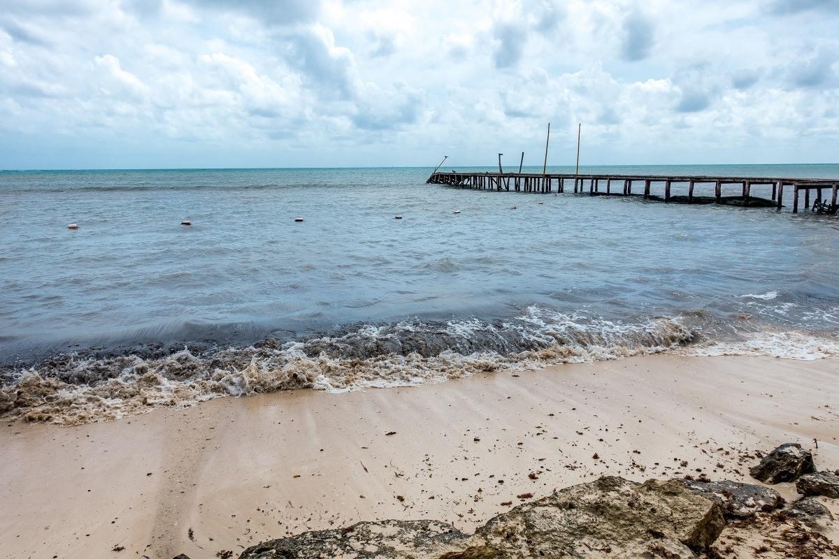 The beach at Hacienda Tres Rios on the Mayan Riviera.