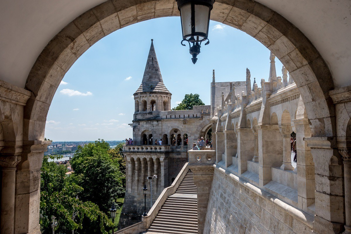Fisherman's Bastion, one of the prettiest sites in Budapest