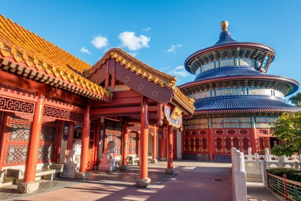 The China pavilion is a delicious stop on an eating and drinking tour around Epcot