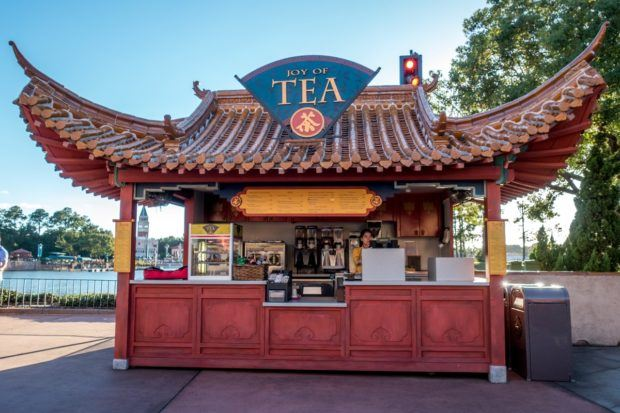 The Joy of Tea kiosk in the Japan pavilion is a good stop on a drink around the world tour at Epcot