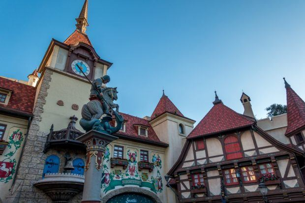The Germany pavilion is a very popular stop on a drinking tour of Epcot