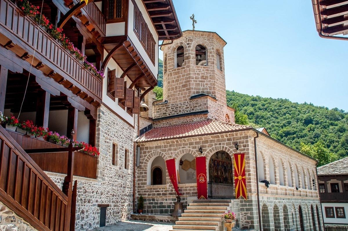 The monastery of St. John Bigorski in Mavrovo National Park in Macedonia