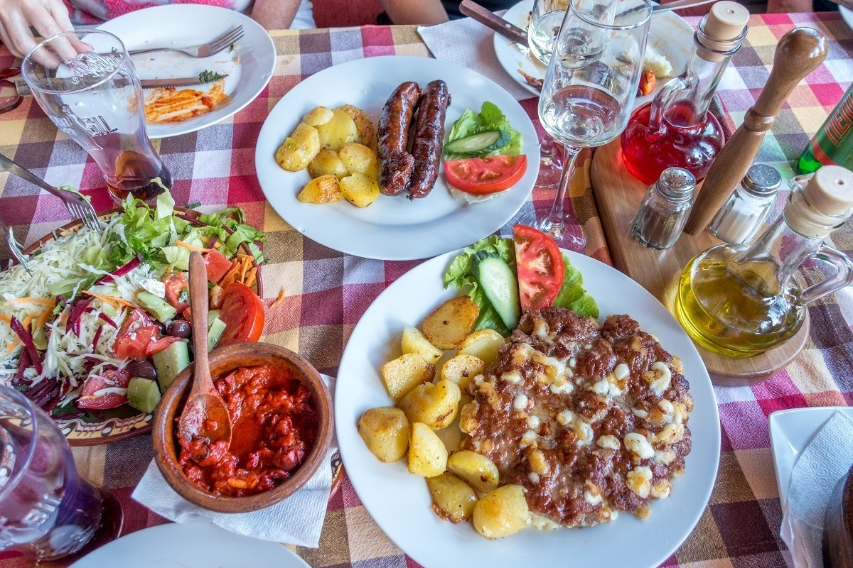Definitely try the delicious local food on a trip to Macedonia