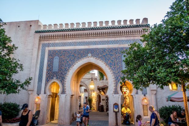 The colorful Morocco pavilion at Epcot in Orlando