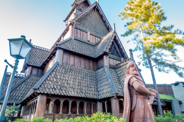 The Norway pavilion in Epcot's World Showcase