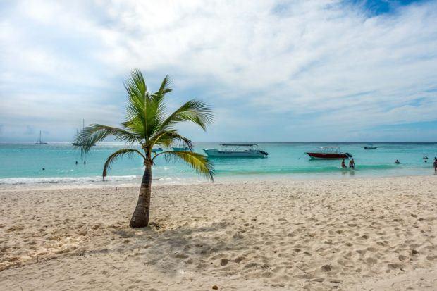 The beautiful beach on Saona Island, Dominican Republic