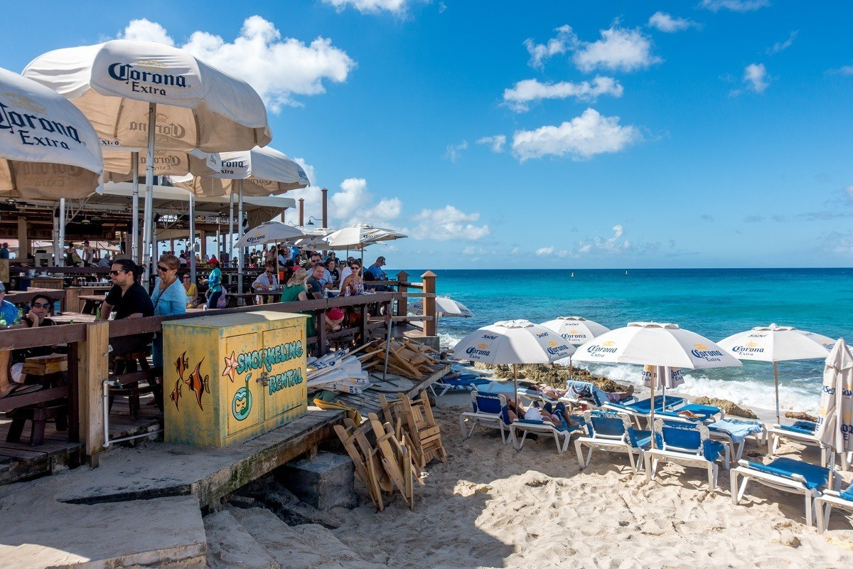 The Sunset Bar and Grill sits right on Maho Beach in St Maarten